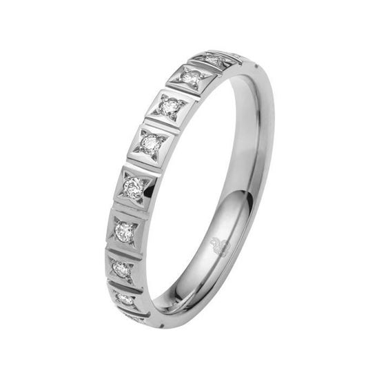Diamantring med 0,15 ct W-Si i platina 600 - 11035099