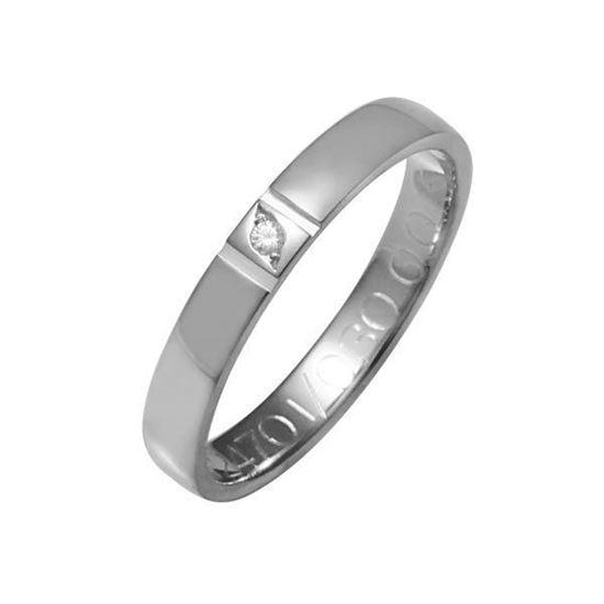 Enstens diamantring med 0,015 ct W-Si i 9kt gull - 41247010