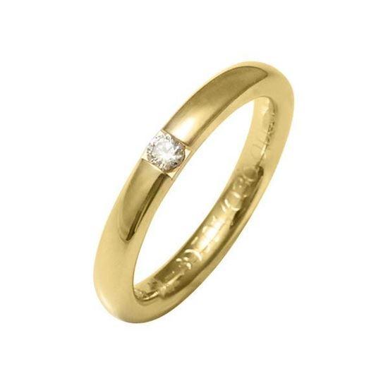 Enstens diamantring med 0,09 ct W-Si i 9kt gull - 4139501