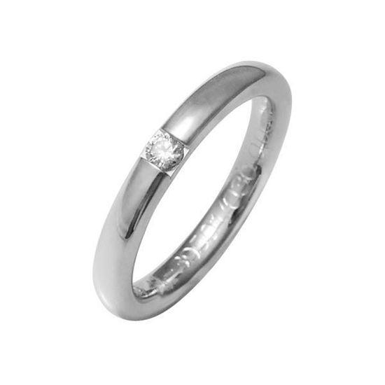 Enstens diamantring med 0,09 ct W-Si i 9kt gull - 41395010