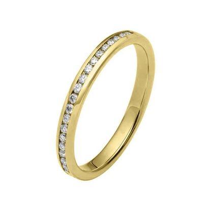 Flerstens diamantring med 0,22 ct W-Si i 9kt gull - 1102046999