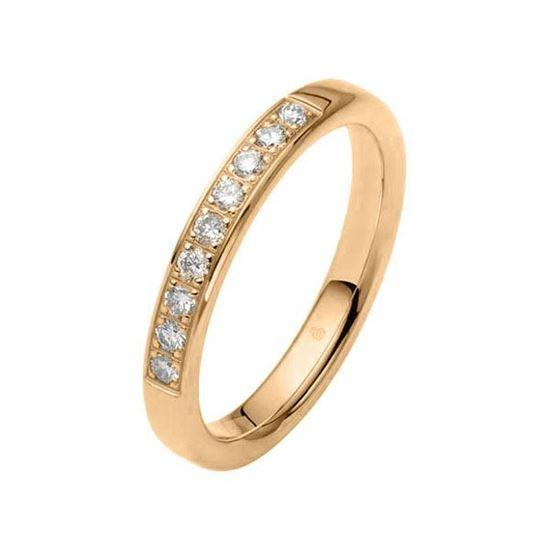 Flerstens diamantring med 0,27 ct W-Si i 9kt gull - 11034639