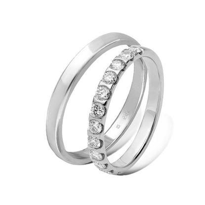 Giftering & diamantring 0,60 ct hvitt gull 3 mm - 11530-4136212