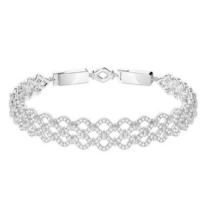 Swarovski armbånd Lace, Rhodium plating - 5371379