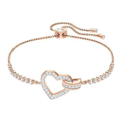 Swarovski armbånd Lovely, Rose gold plating - 5368541