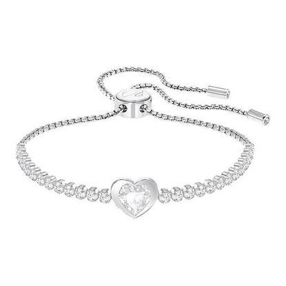 Swarovski armbånd Subtle Heart, Rhodium plating- 5349630