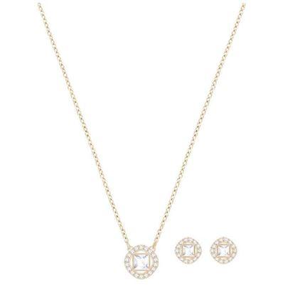 Swarovski smykkesett. Angelic Square, Rose gold plating - 5351306