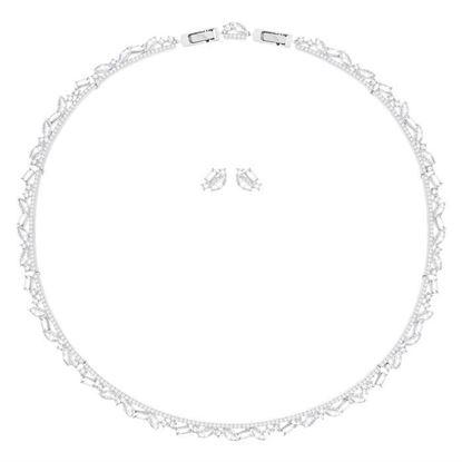 Swarovski smykkesett. Henrietta, Rhodium plating - 5351312