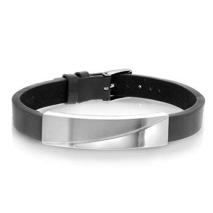 Armbånd til herre, skinn og stål. Alexander - 972252