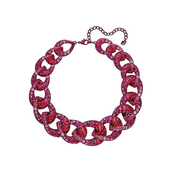 Swarovski collier Tabloid, Pink lacquer plating- 5410988