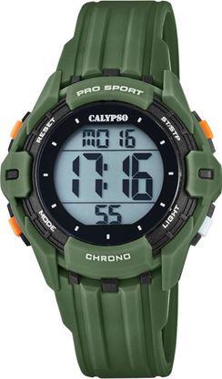 Calypso klokke. Digital, grønn/sort - K5740-5