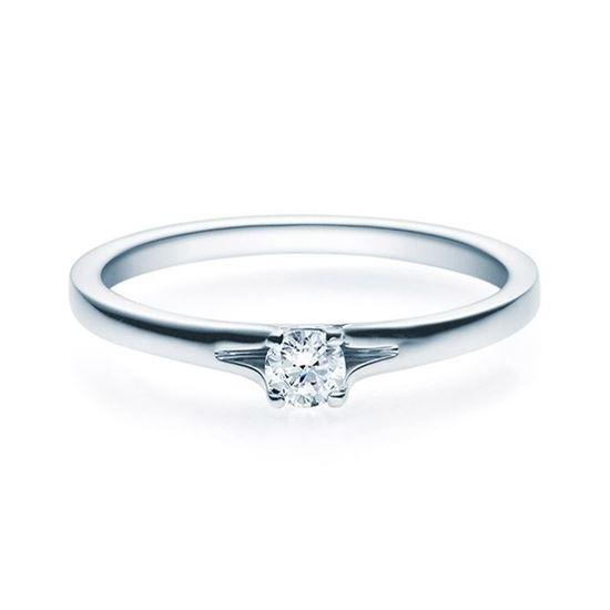 Enstens platina diamantring med 0,16 ct TW-Si -18020016pt
