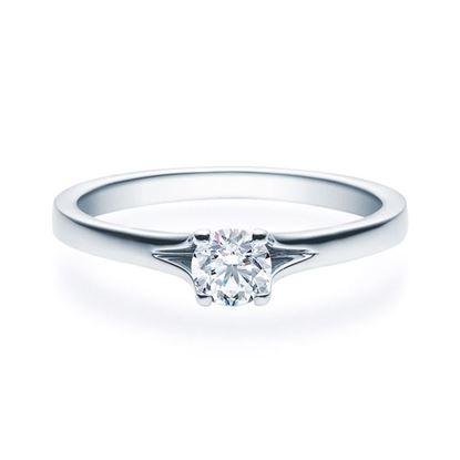 Enstens platina diamantring med 0,30 ct TW-Si -18020030pt