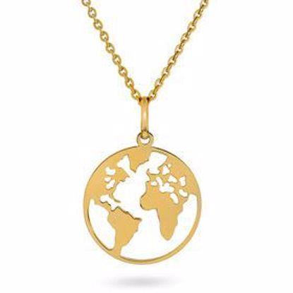 Bilde av Smykke i gull - verdenskart -56610
