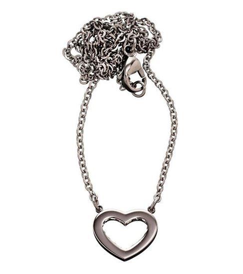 EDBLAD smykke. Monaco Heart Short Steel - 81230