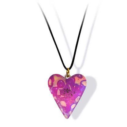 Håndlaget smykke, hjerte -2802044