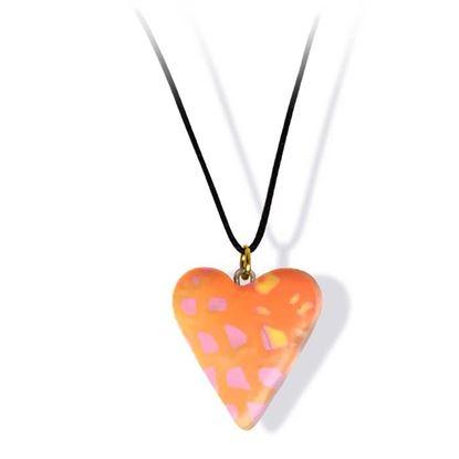 Håndlaget smykke, hjerte -2802045