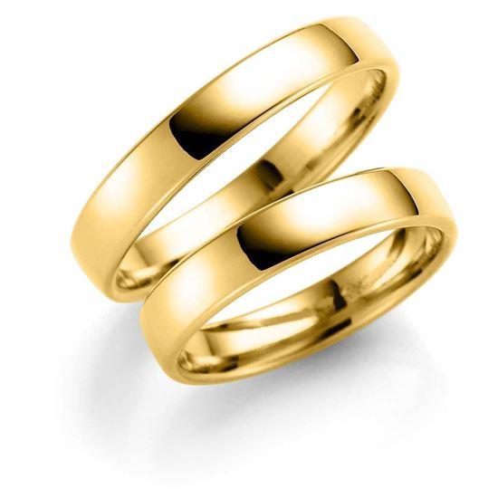 Gifteringer i gull 14 kt, 4 mm . ESPELAND -SE101GU40