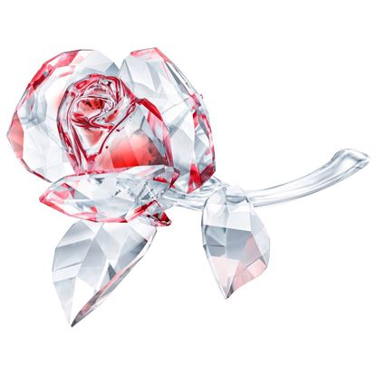Swarovski figurer. Blossoming Rose, Red - 5428561