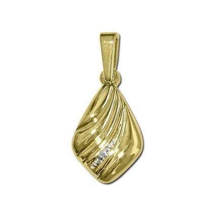 Diamantsmykke i gull med 0,005 ct-BUR25016514