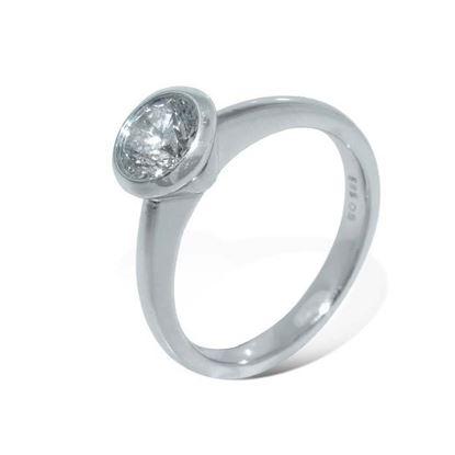 Diamantring i hvitt gull med 0,50 ct -BUR5460773