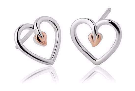Sølv øredobber Tree of Life® Heart Stud - 3STLHE7
