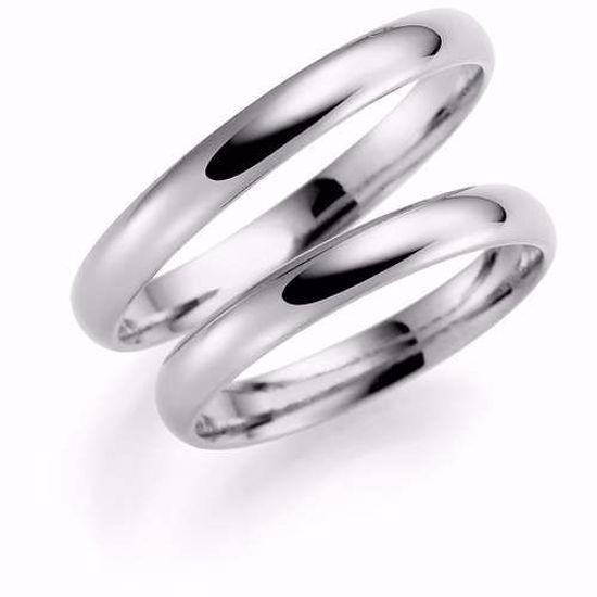 Samboerringer i sølv, 4 mm. ESPELAND - SE102SI40