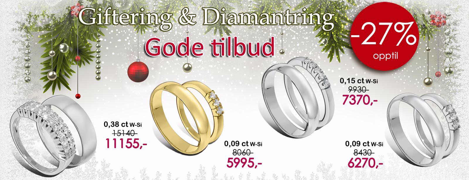 orest giftering og diamantring