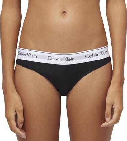 Bilde av Calvin Klein 'MODERN COTTON' string, svart
