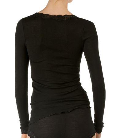 Bilde av Calida 'CONFIDENCE' ull/silke trøye, black