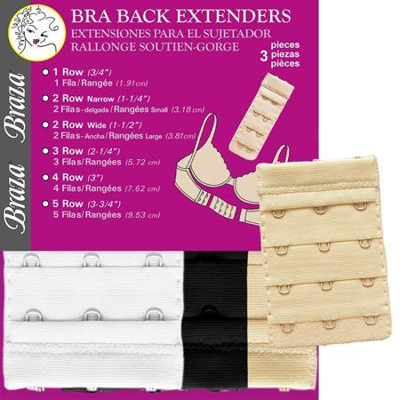 Bilde av Braza 'BRA EXTENDERS' 3 row, black/white/beige