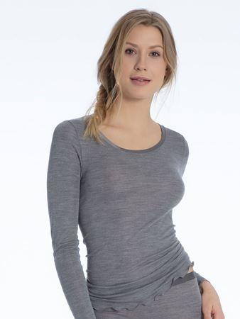 Bilde av Calida 'TRUE CONFIDENCE' ull/silke trøye, grey
