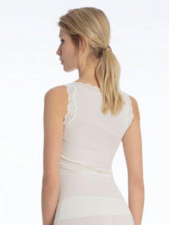 Bilde av Calida 'RICHESSE' ull/silke trøye, cream white