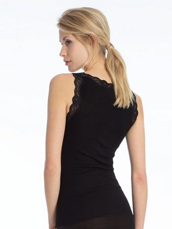 Bilde av Calida 'RICHESSE' ull/silke trøye, black