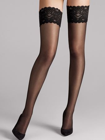Bilde av Wolford 'SATIN TOUCH 20 STAY-UP', black