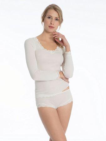 Bilde av Calida 'RICHESSE LACE' ull/silke trøye, crème
