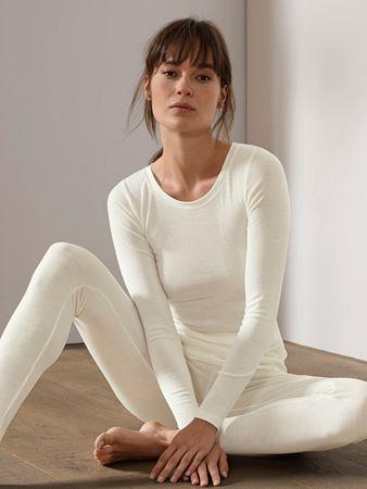 Bilde av Calida 'TRUE CONFIDENCE' ull/silke trøye, crème