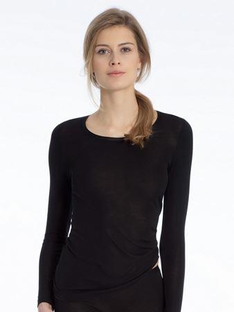 Bilde av Calida 'TRUE CONFIDENCE' ull/silke trøye, black