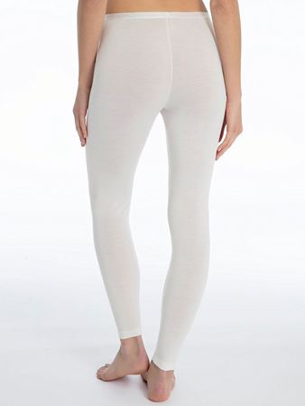 Bilde av Calida 'TRUE CONFIDENCE' ull/silke leggings, crème