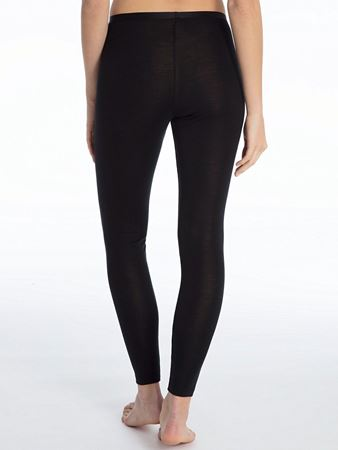 Bilde av Calida 'TRUE CONFIDENCE' ull/silke leggings, black
