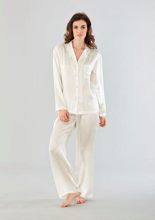 Bilde av Damella 'SILKE' pysjamas, ivory