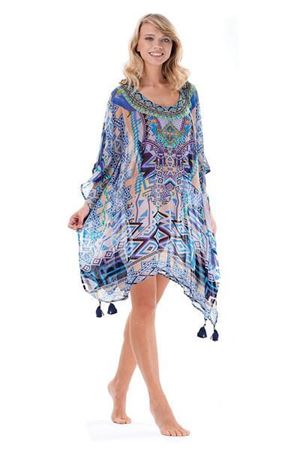 Bilde av ICONIQUE kaftan, blue/peach