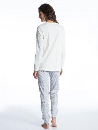 Bilde av Calida 'COSY COTTON STYLE' pysjamas, star white