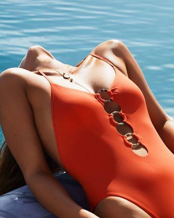 Bilde av Seafolly 'RING FRONT MAILLOT' badedrakt, tangelo