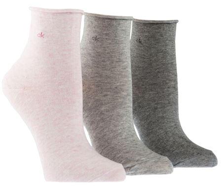Bilde av Calvin Klein 'COMBED COTTON' 3PK strømper, pink/pale/grey
