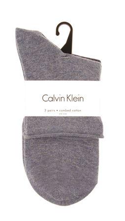 Bilde av Calvin Klein 'COMBED COTTON' 3PK strømper, stonewash/denim/navy