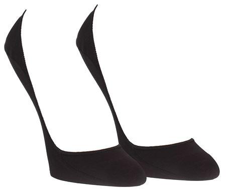 Bilde av Calvin Klein 'NO SHOW COTTON LINER' 2PK strømper, black