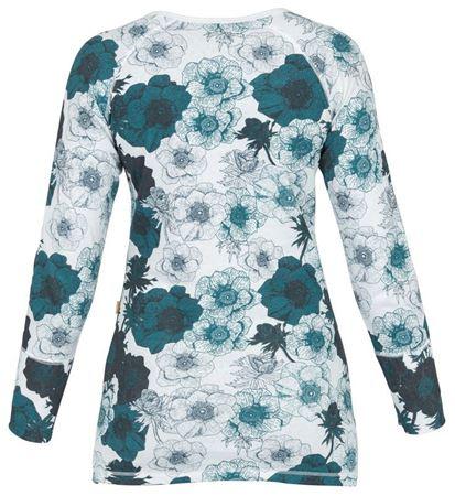 Bilde av Lilleba 'RAGNHILD' trøye, botanikk bølgeblå