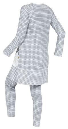 Bilde av Lilleba 'GJERTRUD SETT' pysjamas, etikette grå skifer