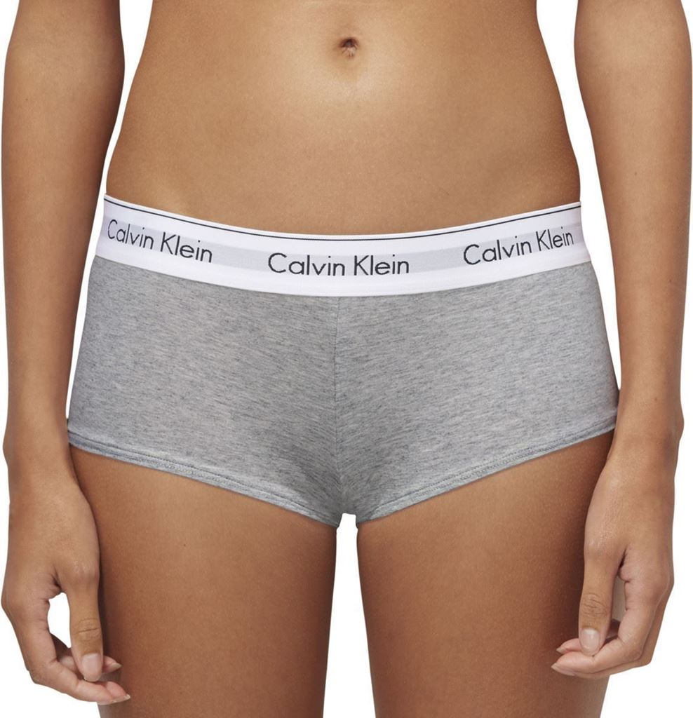 Bilde av Calvin Klein 'MODERN COTTON' boyshort, grey heather